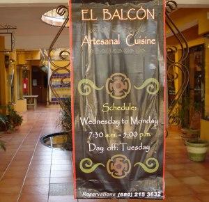 El Balcon Sign
