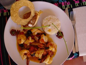 Shrimp Veracruz-style at El Balcon in San Felipe, BC, Mexico