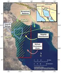Map of Vaquita Refuge Area in Sea of Cortez